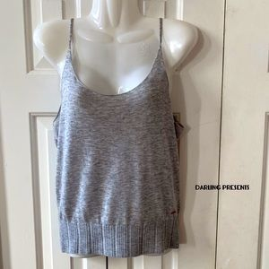 n:PHILANTHROPY GRAY TANK SWEATER TOP